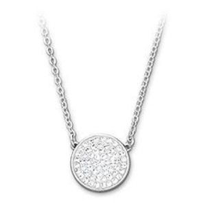 Swarovski Crystal Necklace Pave disc NWT
